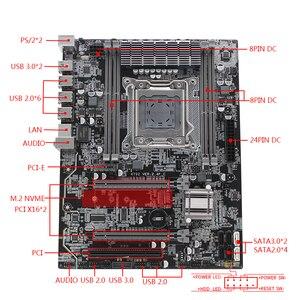 Image 5 - X79 lga 2011 conjunto de placa mãe kit atx com intel xeon e5 1620 cpu 8g (2*4gb) ddr3 reg ecc ram m.2 nvme ssd x79z 2.4f