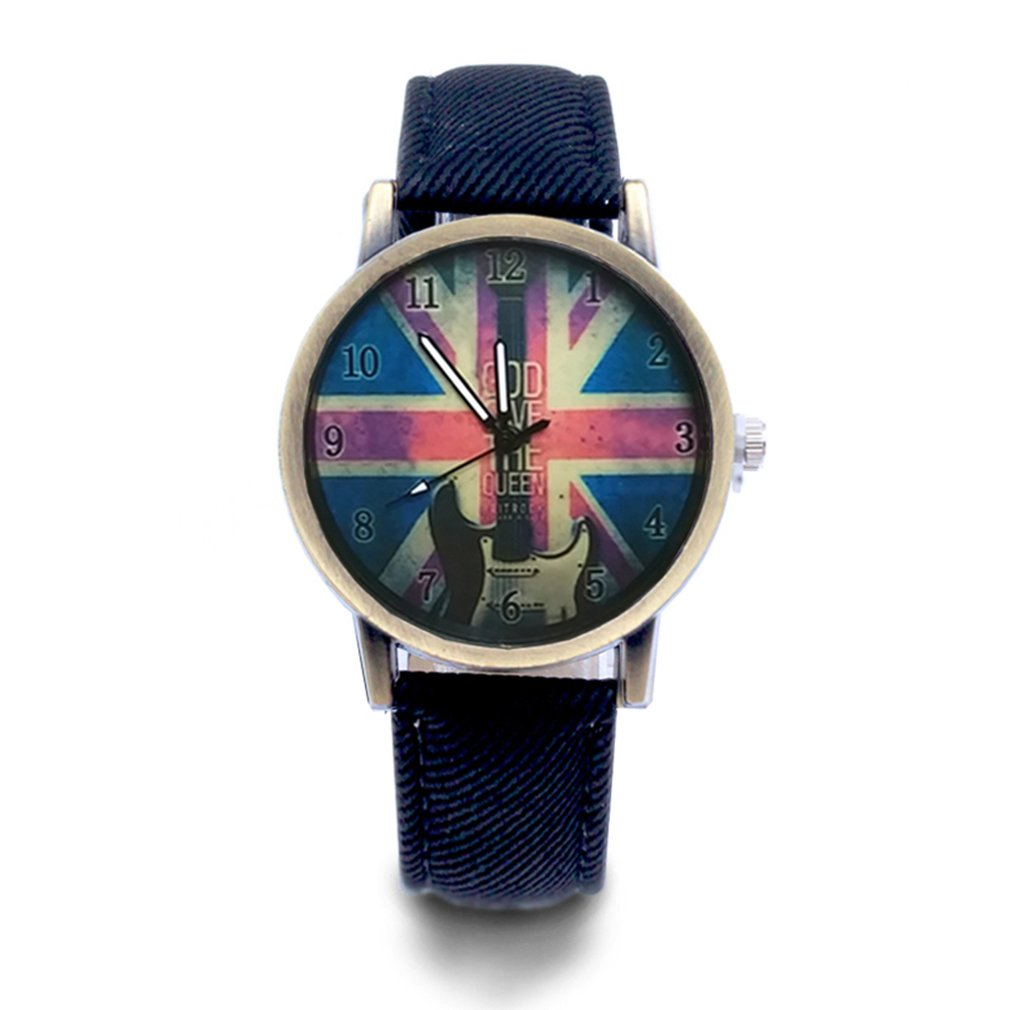 M Word Flag British Flag Guitar Universal Watch Fashion Quartz Watches