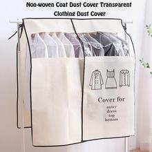 Ubrania kurz pokrywa włókniny z włókniny płaszcz kurz pokrywa przezroczysta odzież pył pokrywa dla gospodarstwa domowego szafa organizator tanie tanio PRINTED GEOMETRIC Mieszanie Nowoczesne non-woven
