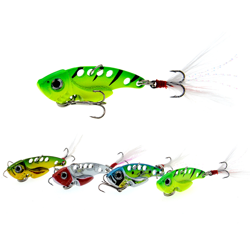 Fashion Hot Sale 7/10g 3D Eyes Metal Vib Blade Lure Sinking Vibration Baits Artificial Vibe for Bass Pike Perch Fishing