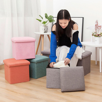 30*30*30 CM Multifunction Fabric Foldable Storage Stool Bench Box Small Sofa Kid Chair Foot Stool Taburete Ottoman free shipping pu foot square stool with storage space living room ottoman children stool kids storage box footrest