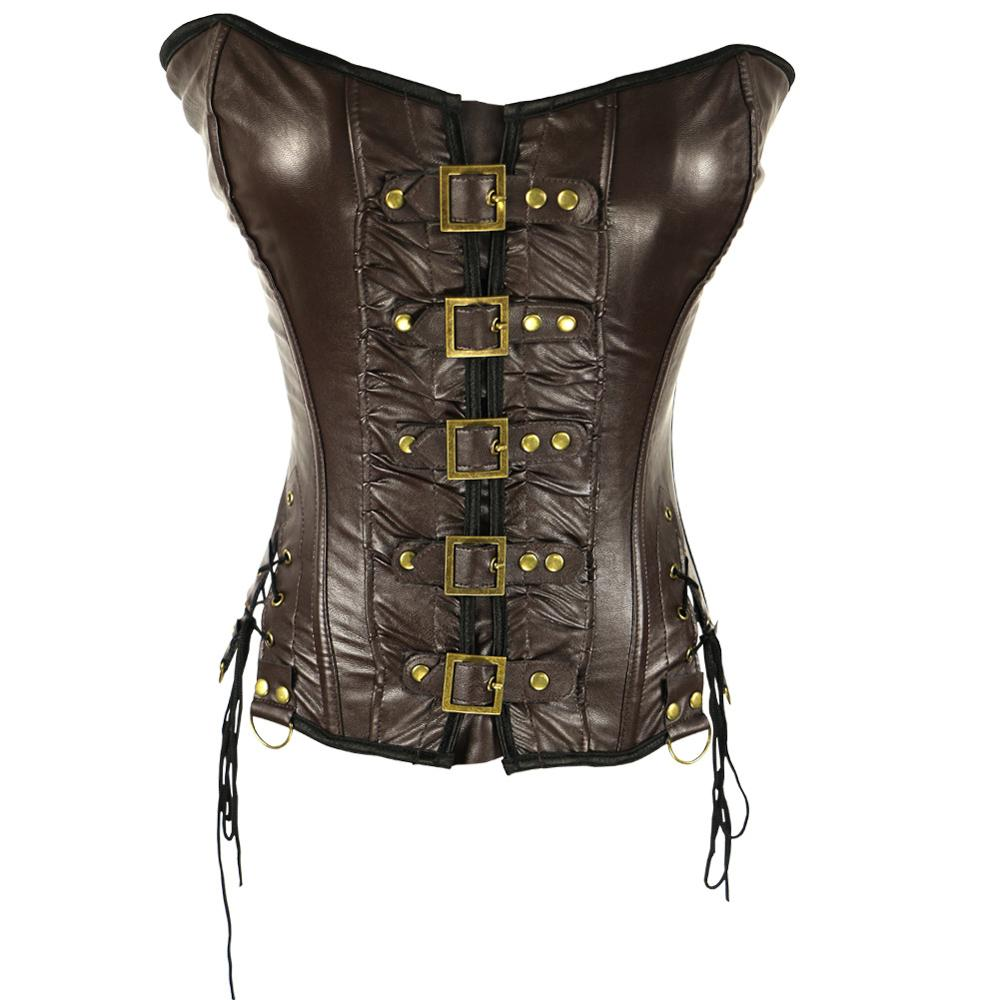 Jazz Dance Costume Women Sexy PU Leather Belt Buckle Corset Nightclub Female Singer Sexy Stage Clothes Rave Party Outfit DQL1616