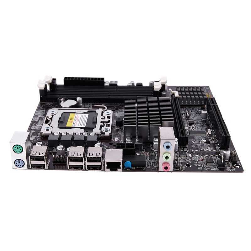 X58F LGA1366 настольный компьютер материнская плата с жесткими дисками SATA 3,0/2,0 USB 2,0 DDR3 1600 ГБ, 64 ГБ, 2 канала материнская плата для Intel
