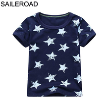 SAILEROAD Cotton Star Baby Boys Tops Tees T Shirt For New Summer Toddler Infant Kids Short Sleeve Clothes Fashion Boy's Clothing new 2018 brand summer 100% cotton baby boys clothing toddler children kids clothes tees t shirt short sleeve t shirt boys blouse
