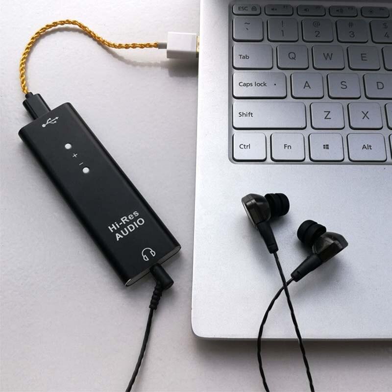 ES9038Q2M наушники усиленный HiFi аудио USB декодер DAC SA9227 тип c портативный компьютер внешняя звуковая карта DSD25
