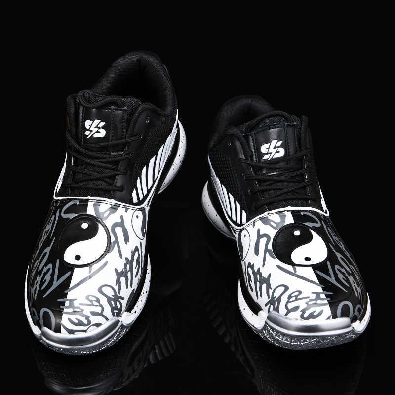 Người Đàn Ông Ánh Sáng Jordan Bóng Rổ Thoáng Khí Chống Trơn Trượt Bóng Rổ Sneakers Nam Buộc Dây Thể Thao Tập Gym Cổ Chân Giày Boots rổ Homme