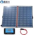 120 Вт 18 В/12 В солнечная панель панели солнечных батарей гибкие складные солнечные панели комплект системы портативных 100 Вт солнечная панель...