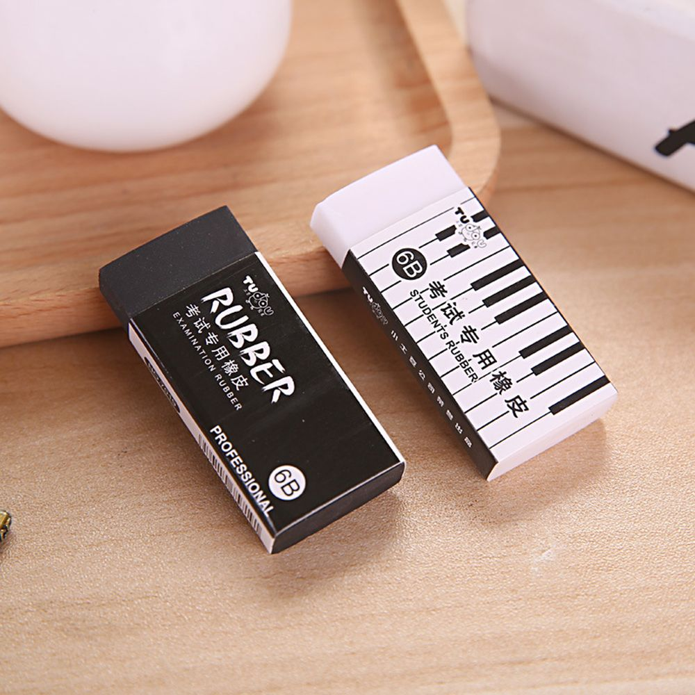 1PC 6B Piano Exam Eraser Student Correction Pencil Eraser Learning Stationery School Office Supply Dropshipping