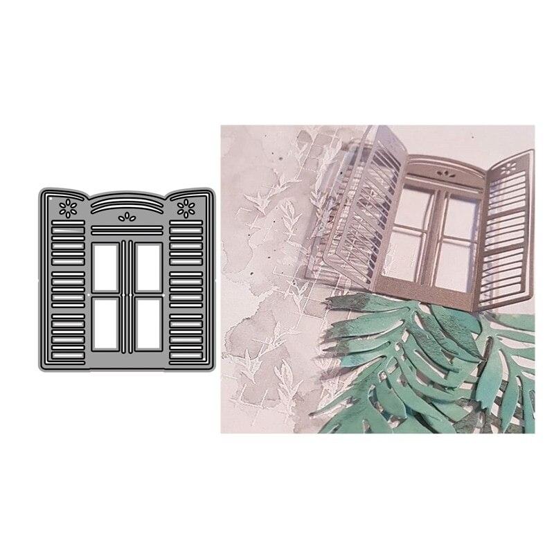 Crazyclown DIY Window Metal Cutting Dies Stencils For Scrapbooking/photo Album Stamps Decorative Embossing Crafts