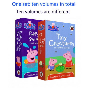 Peppa Pig Book Children's English Fairy Tale Book Picture Book Cartoon Anime Boy Girl Book Early Education Puzzle Birthday Gift2
