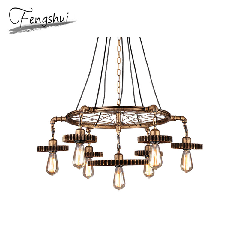 Industrial Retro Iron Pendant Lights Lamp LED Lamps Pendant Lighting Living Room Dining Room Bar Cafe Bedroom Loft Hanging Lamp