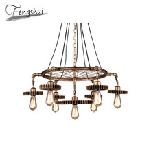 цена Industrial Retro Iron Pendant Lights Lamp LED Lamps Pendant Lighting Living Room Dining Room Bar Cafe Bedroom Loft Hanging Lamp онлайн в 2017 году