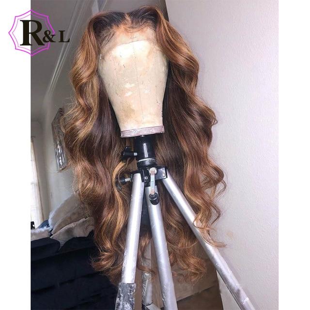 RULINDA 1B/27 человеческие волосы на шнуровке с эффектом омбре, диаметром 13*4, бразильские волнистые волосы без Реми, парики на шнуровке плотностью 130%