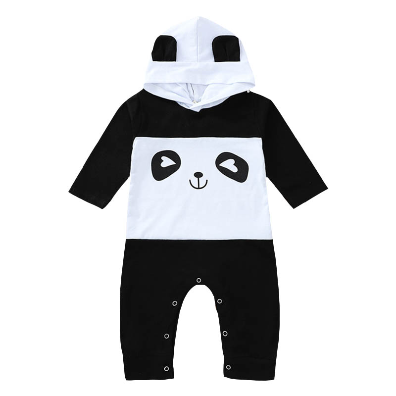 Autumn Fashion Newborn Toddler Cotton Long-sleeved Panda Pattern Baby Romper Baby Boy Girl Clothes Infant Outfits