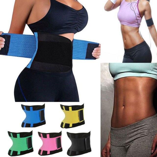 2020 Women Sweat Sauna Neoprene Back Support Slimming Waist Trainer Slim Belt Gym Soft Breathable Zipper Underwear Shaper Tops 1