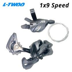 Ltwoo a5 1x9 9 desviadores de velocidade gatilho groupset 9 s 9v alavanca shifter 9 velocidade traseira desviador switches compatível sram