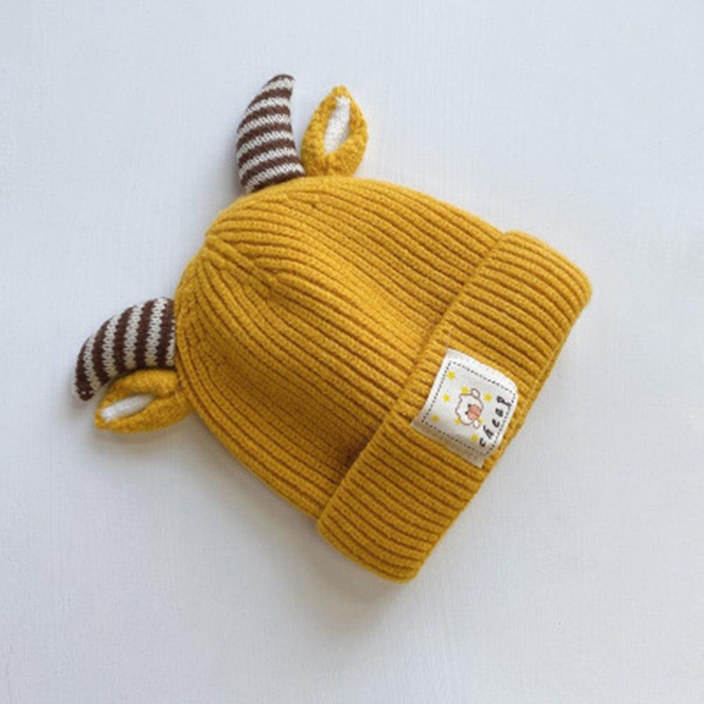 Осень и зима Корейская версия, милые вязаные свитера на хлопковой подкладке теплая шапка для младенца детская одежда из шерсти и Кепки Детский Рождественский подарок Кепки s - Цвет: 2