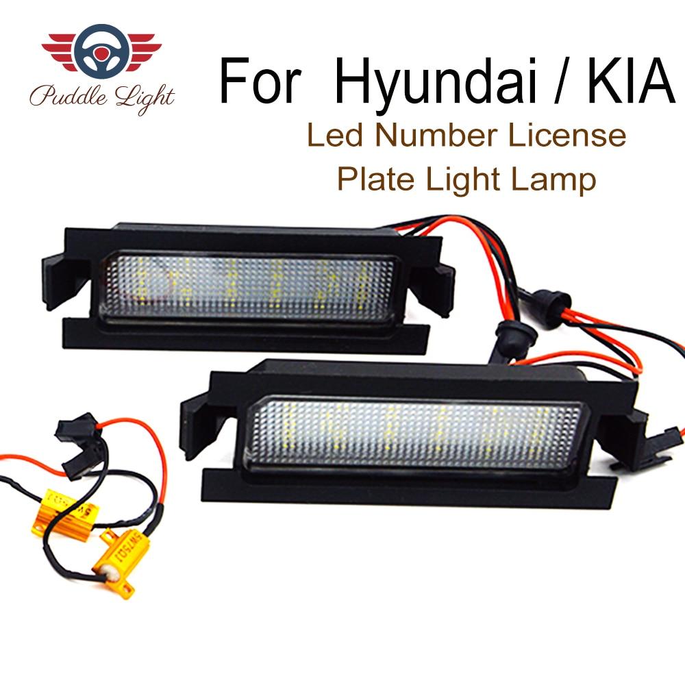 2 pçs estilo do carro livre de erros led luz da placa de licença para hyundai i30 (gd) cw 5d kia pro c'eed número da cauda do carro lâmpadas placa