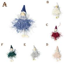 Christmas Tree Doll Ornaments Cute Wool Angel Toys Gift For Home Decoration Toy Hang