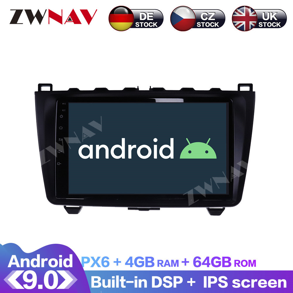 <font><b>Android</b></font> 9.0 With DSP Carplay IPS Screen For <font><b>Mazda</b></font> <font><b>6</b></font> 2008 2009 2010 2011 2012 Car <font><b>GPS</b></font> Navigation Radio DVD Player Multimedia image