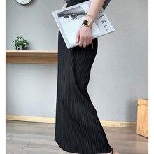 Korean Skirt Clothing Miyake Hip-Aesthetic Long Womens Straight Plus-Size High-Stretch-Wrap