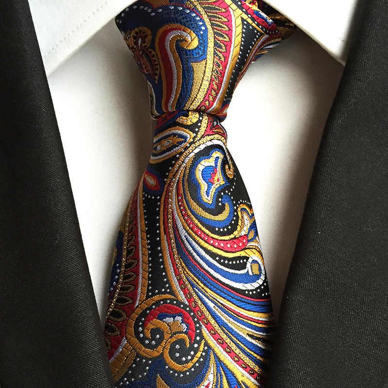 אופנה קלאסי גברים של עניבה משובצת פסים אקארד משי עניבה עסקי פורמליות חתונה מסיבת 8cm 1200 מחטי Corbatas Gravata