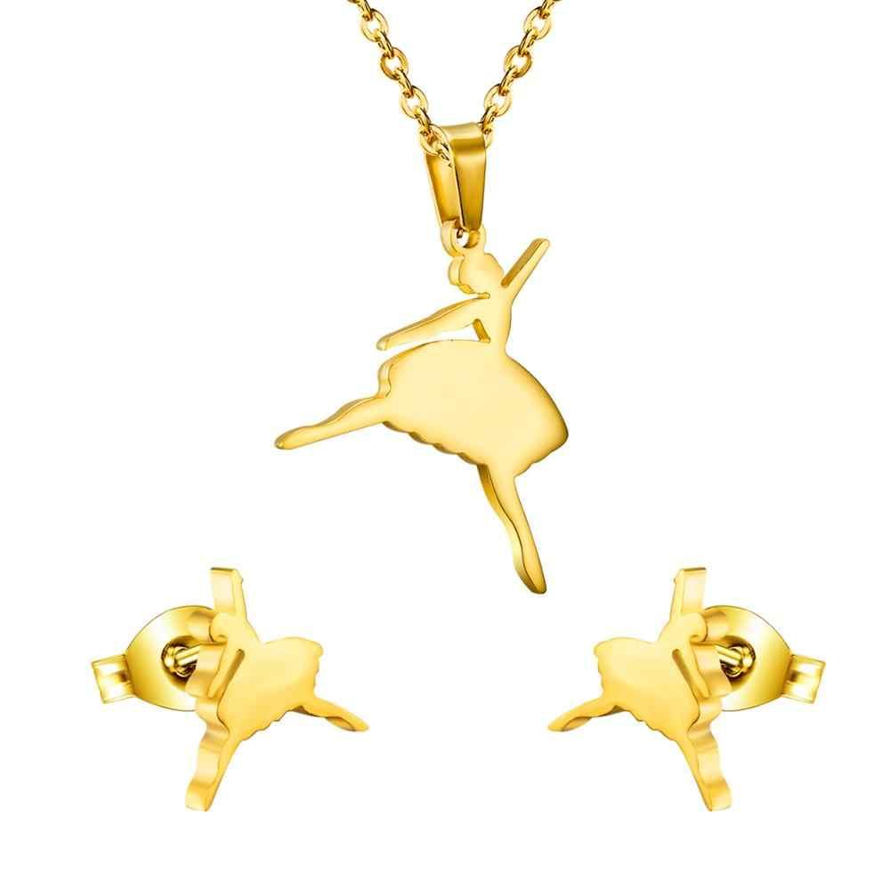 LUXUKISSKIDS อัญมณีจี้สร้อยคอต่างหูเครื่องประดับชุดผู้หญิงทอง/เหล็กดูไบสาวชุดเครื่องประดับ