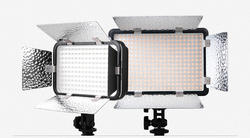 Godox LED308C II LED 3300K-5600K Video Studio Light for Cameras & Camcorders +Reflector And Filter+Power Adapter