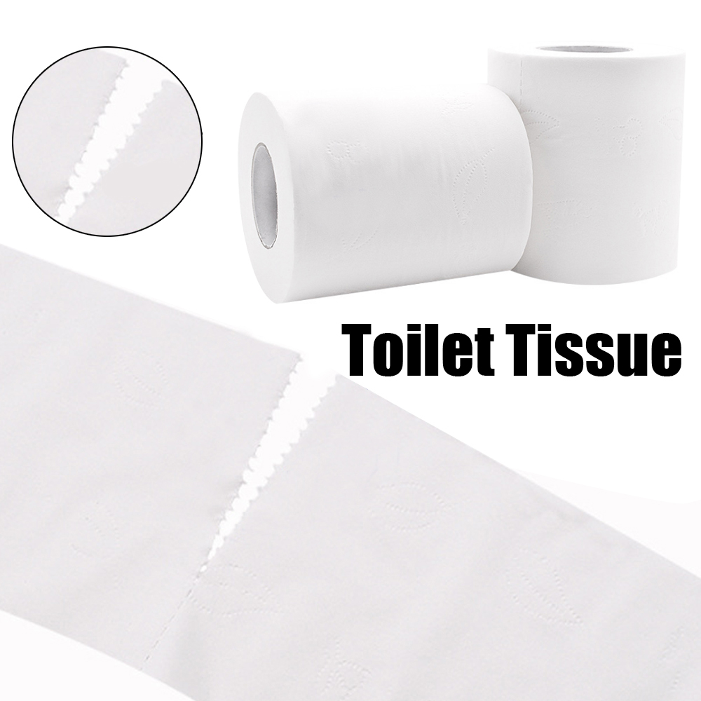 2 Rolls Thickening Toughness Toilet Tissue Original Wood Pulp Dust Free Paper Towel Skin-friendly Towel Roll Paper