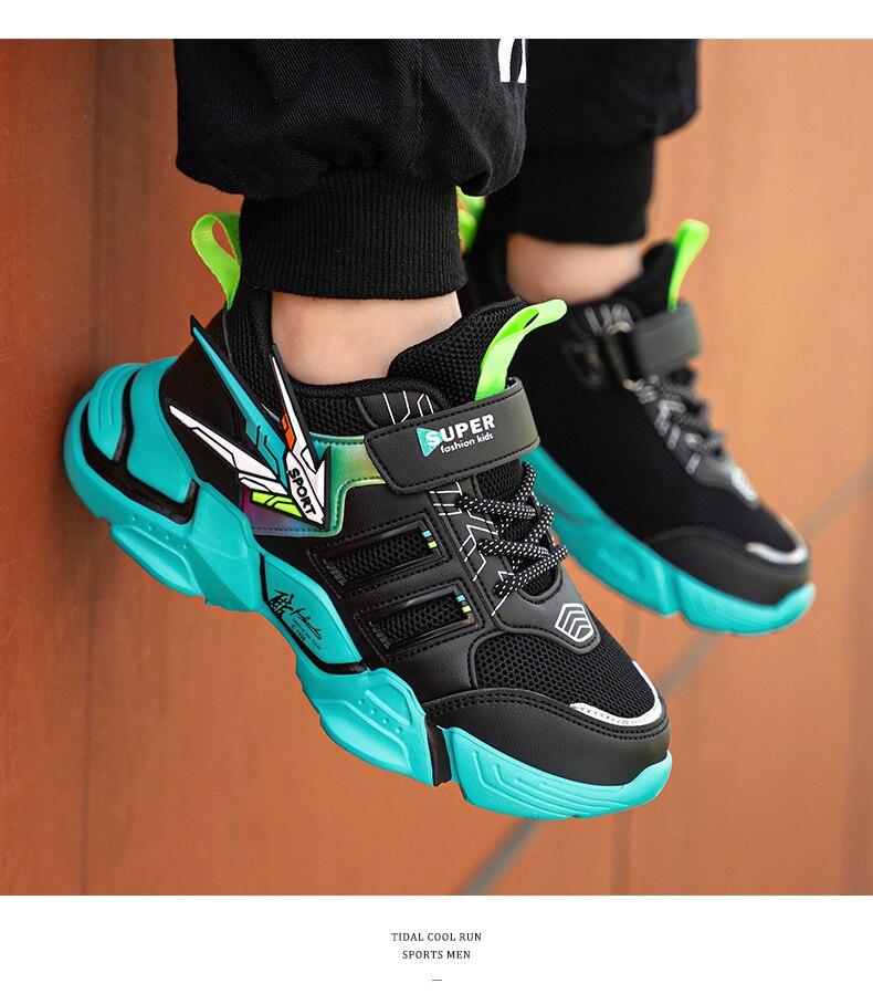 Sapatos esportivos confortáveis para meninos, calçados masculinos