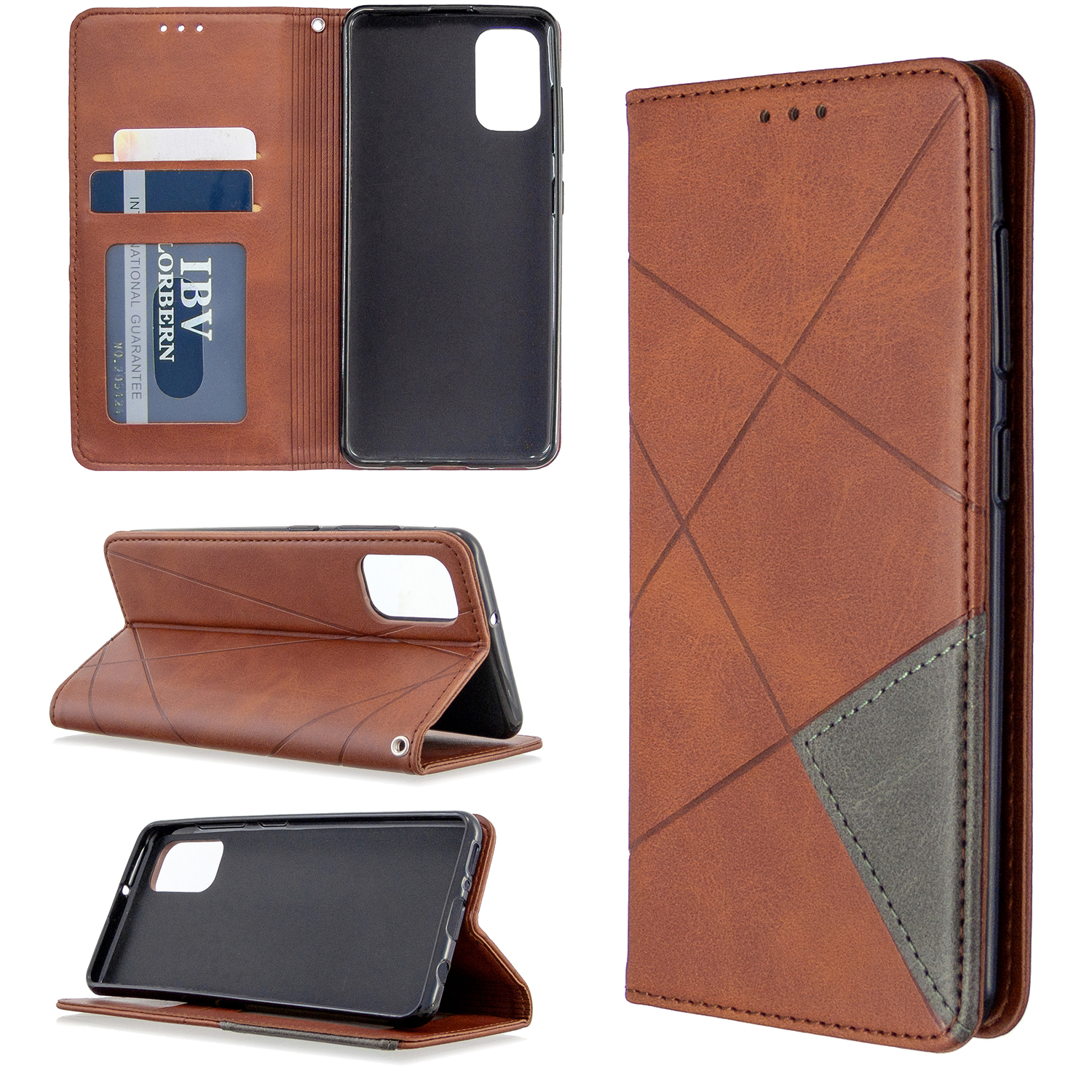 Magnetic <font><b>Leather</b></font> <font><b>Case</b></font> For <font><b>Samsung</b></font> <font><b>Galaxy</b></font> A70E A41 A11 A51 A31 S20 S20plus S20Ultra Note10 PU <font><b>Wallet</b></font> <font><b>Flip</b></font> <font><b>Stand</b></font> Cover image