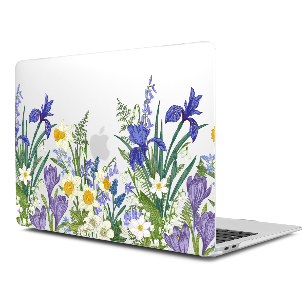 Marble Flower Pattern Case for MacBook 85