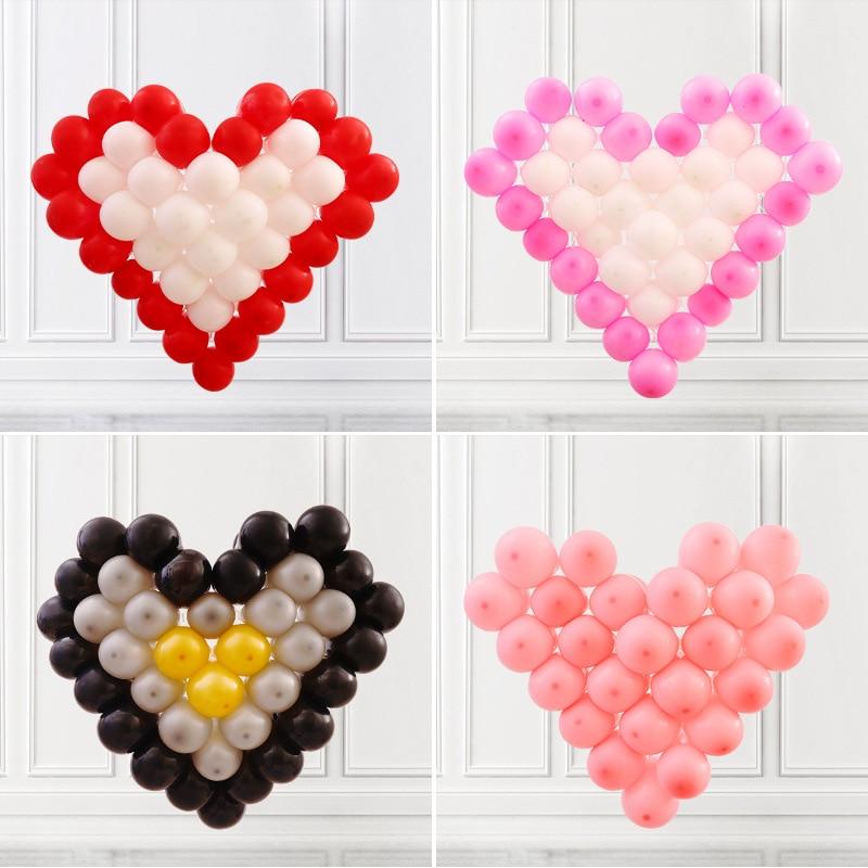 В форме сердца шар украшения костюм с рисунком «решетка» Экспресс Свадебные украшения комнаты День рождения Любовь моделирование 081