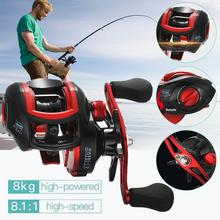 цены Baitcasting Fishing Reel 8.1:1 High Speed 18+1BB Fishing Reel ABS Body Handle Fishing Reels  Fishing Spinning Reels Wheel
