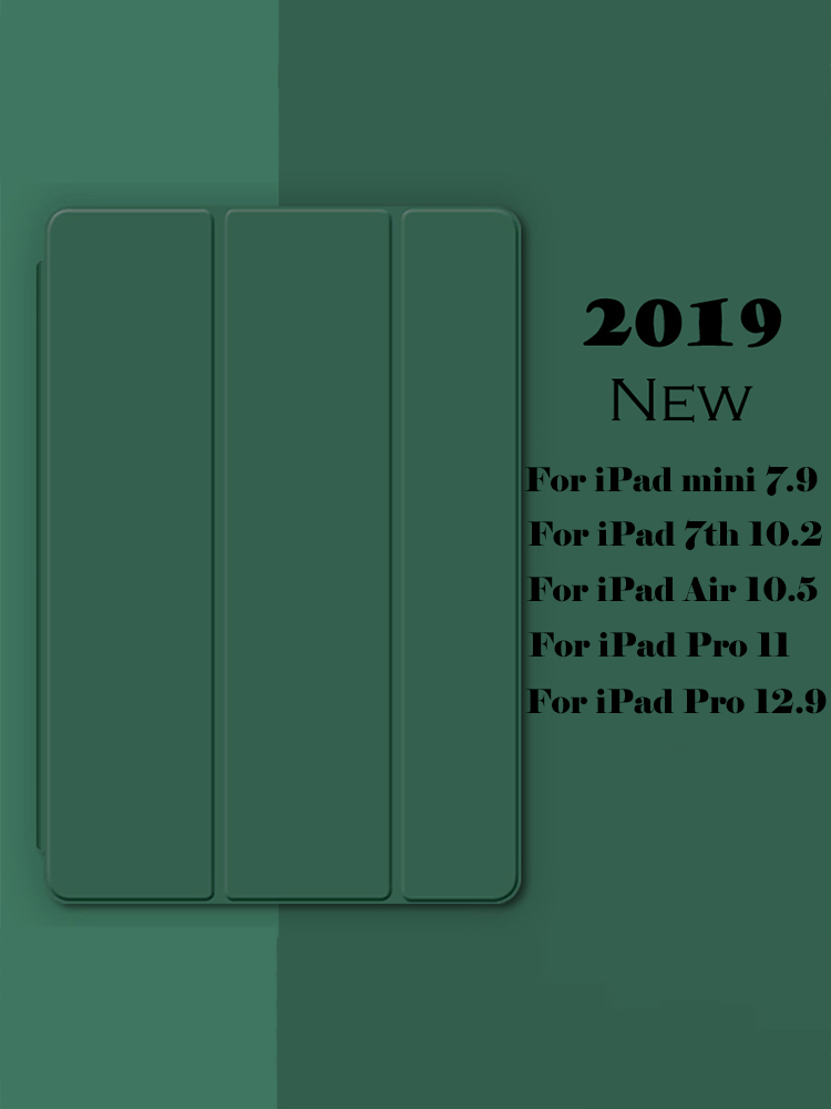Case For IPad 10.2 7 7th Generation Ultra Slim Leather Case For IPad Mini 5 Air 3 2019 Smart TPU Case For IPad Pro 11 3 3th
