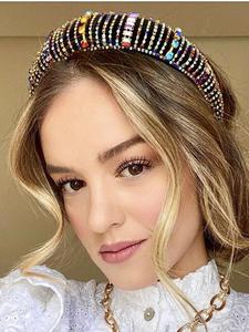 Haimeikang Hairbands Rhinestones Velvet Colored Thick Fashion Luxury Bride Sponge Gorgeous