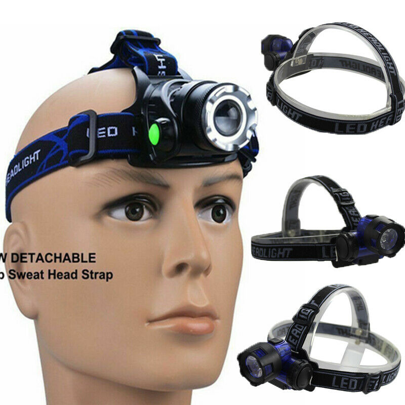 LED Headlamp Fishing Headlight T6 3 Modes Zoomable Lamp Waterproof Head Torch Flashlight Head Lamp Use For Camping