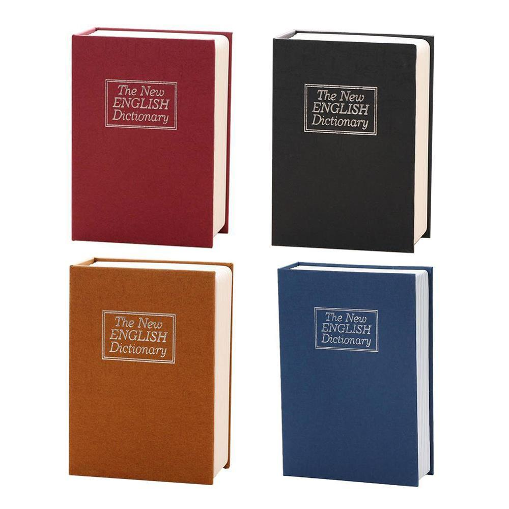 NEW Storage Safe Box Dictionary Book Bank Money Cash Jewellery Hidden Secret Security Locker With Key Lock Drop Shipping