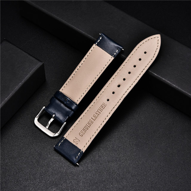Smooth Calfskin Leather Watchband (Multiple Colours) 3