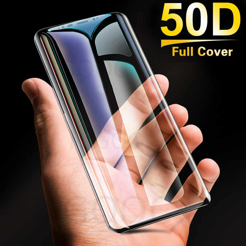 50D منحني حافة زجاج واقي لسامسونج غالاكسي ملاحظة 8 9 S7 S6 حافة S8 s9 plus المقسى واقي للشاشة سلامة زجاج عليه طبقة غشاء رقيقة