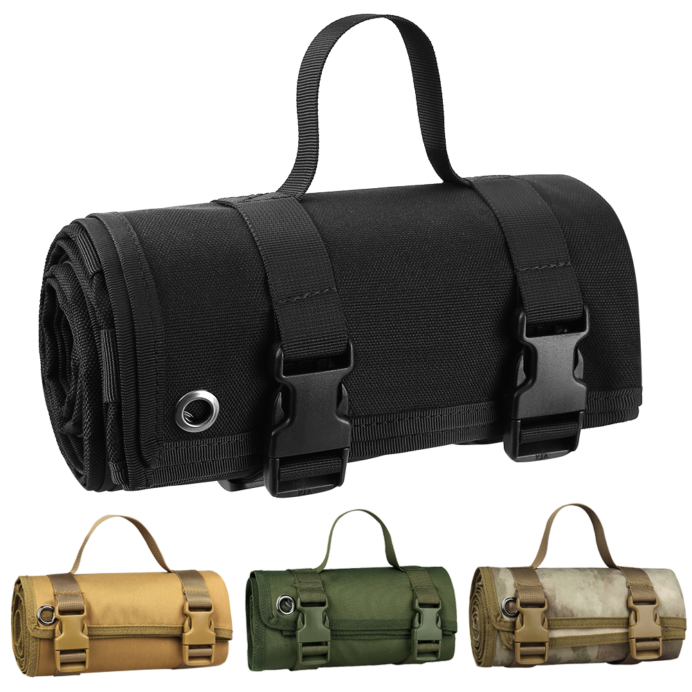 1000D Tactical Shooting Mat Lightweight Roll Up Camping Mat Non-slip Hunting Gun Pad Waterproof Picnic Blanket Hunting Accessory