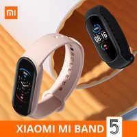 Смарт-браслет Xiaomi Mi Band 5, 4 цвета, AMOLED экран, Mi Band 5, смарт-браслет, фитнес-трекер, спортивный Bluetooth водонепроницаемый смарт-браслет