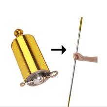 Bolso portátil auto-defesa produtos de aço puro pé-de-cabra telescópica vara proteção carro com liga de titânio haste de aço brinquedo mágico
