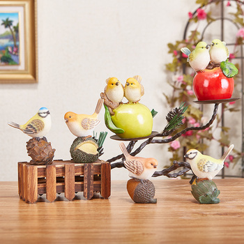 Simulated Bird Plant Meaty Flower Pot Living Room Desk Animal Model Garden Balcony Creative Decorations