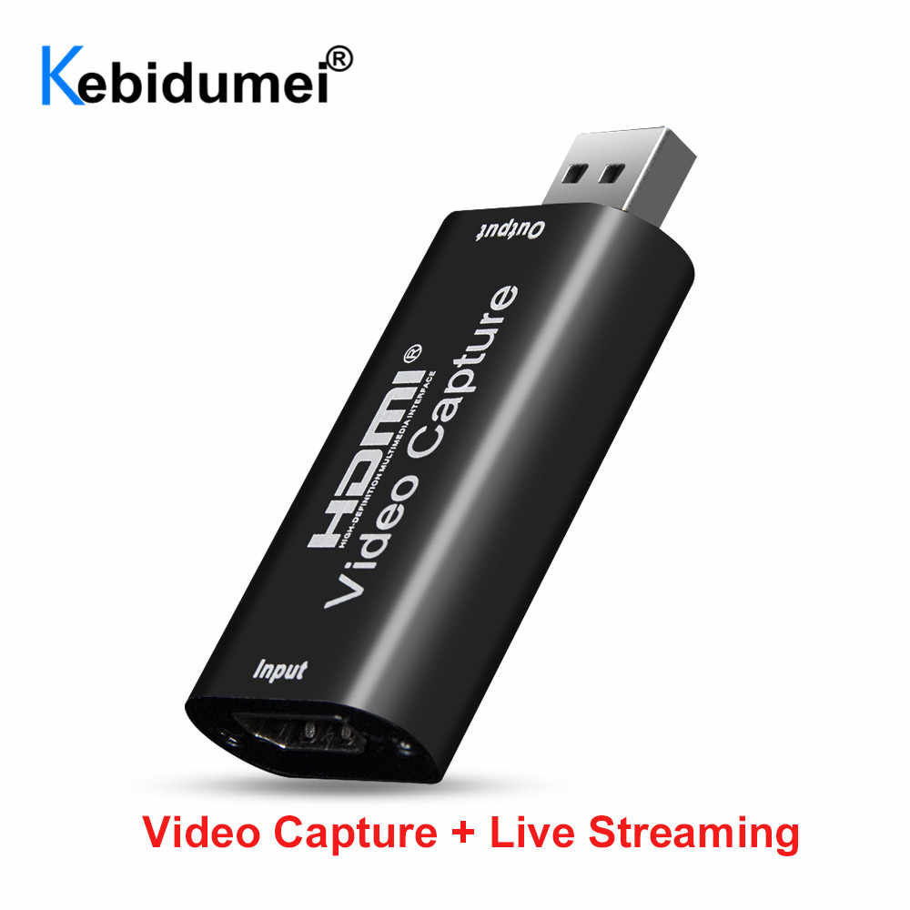 Mini 4K 1080P HDMI untuk USB 2.0 Video Capture Card Game Rekaman Ruangan untuk Komputer Youtube OBS Dll. Live Streaming Siaran