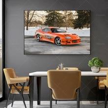 Moderno xiaotas modular laranja carro lona hd imprime fotos pintura da arte parede decoração casa cartazes para sala de estar quadro