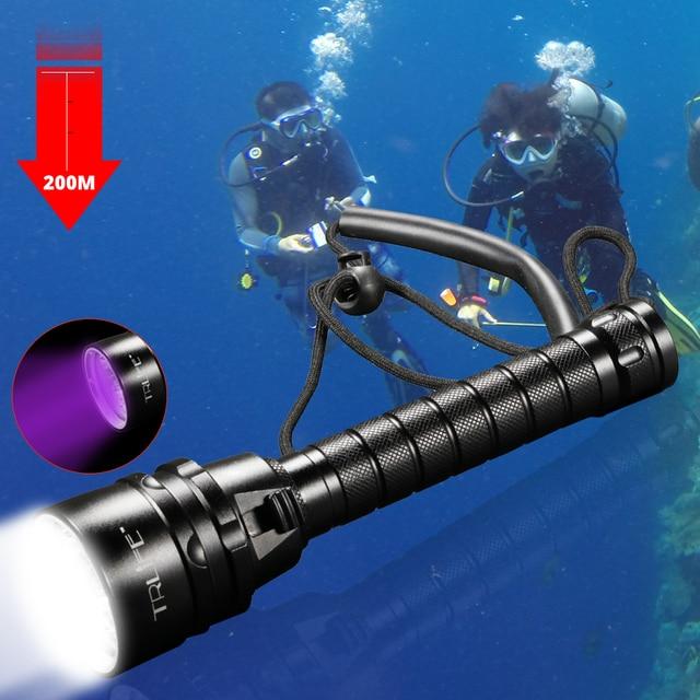 6000lm scuba led diving flashlight