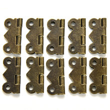 ZLinKJ 10Pcs 20x17mm DIY Mini Butterfly Hinges Jewelry Gift Wine Box Wood Dollhouse Door Hinge Cabinet Drawer Jewelry Box Repair(China)