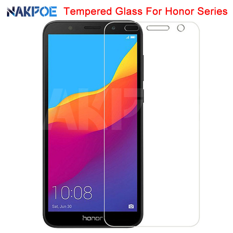 9H Tempered Glass On The For Huawei Honor 7A 7C 7X 7S Screen Protector Honor 8X 8S 8A 8C 9X 20S V30 Protective Glass Film Case