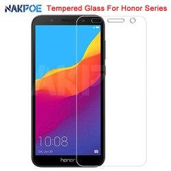 Szkło hartowane 9H na Huawei Honor 7A 7C 7X 7S ochraniacz ekranu Honor 8X 8S 8A 8C 9X 20S V30 szkło hartowane|Etui do ekranu telefonu|Telefony komórkowe i telekomunikacja -